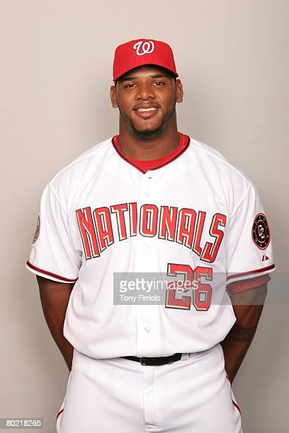 Wily Mo Pena of the Washington Nationals poses for a portrait during photo day at Space Coast Stadium on February 23 2008 in Viera Florida