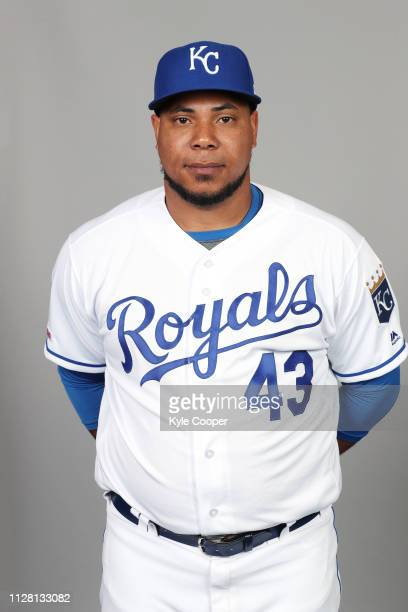 Wily Peralta of the Kansas City Royals poses during Photo Day on Thursday February 21 2019 at Surprise Stadium in Surprise Arizona