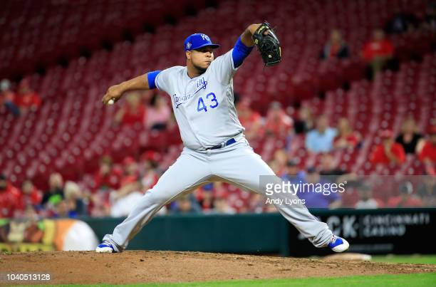 Wily Peralta of the Kansas City Royals throws a pitch against the Cincinnati Reds at Great American Ball Park on September 25 2018 in Cincinnati Ohio