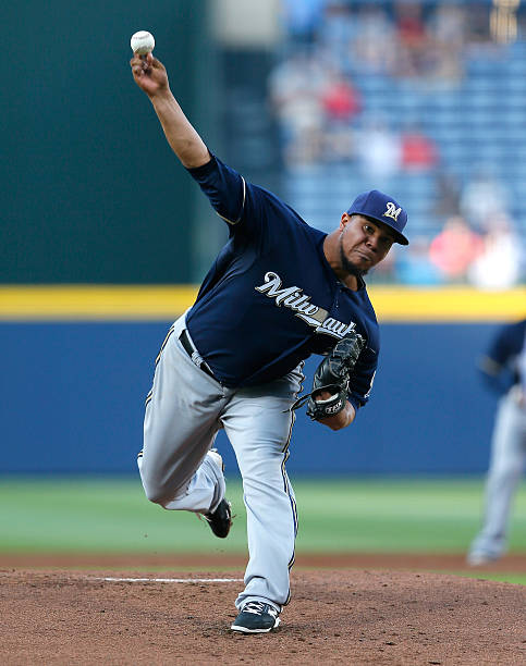 Wily Peralta of the Milwaukee Brewers