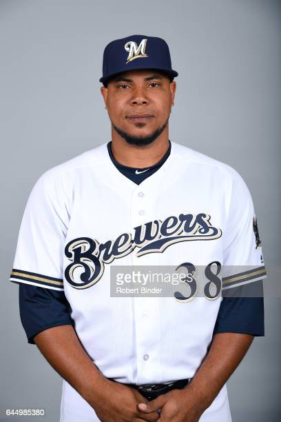 Wily Peralta of the Milwaukee Brewers poses during Photo Day on Wednesday February 22 2017 at Maryvale Baseball Park in Phoenix Arizona