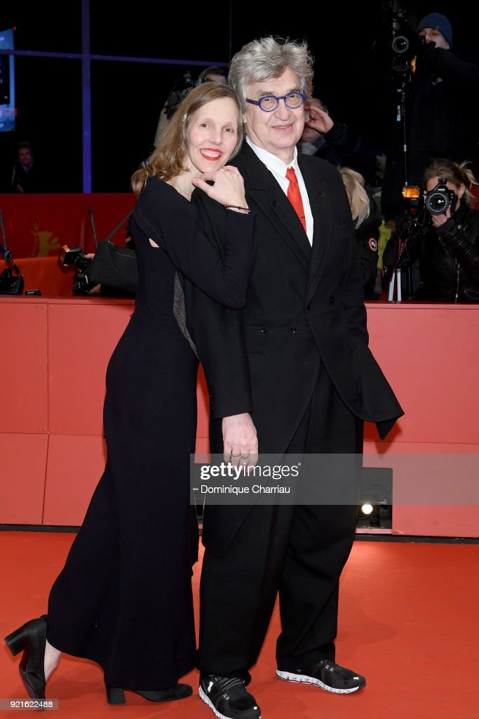 Wim Wenders and his wife Donata Wenders attend the Hommage Willem Dafoe - Honorary Golden Bear award ceremony and 'The Hunter' screening during the 68th Berlinale International Film Festival Berlin at Berlinale Palast on February 20, 2018 in Berlin, Germany.