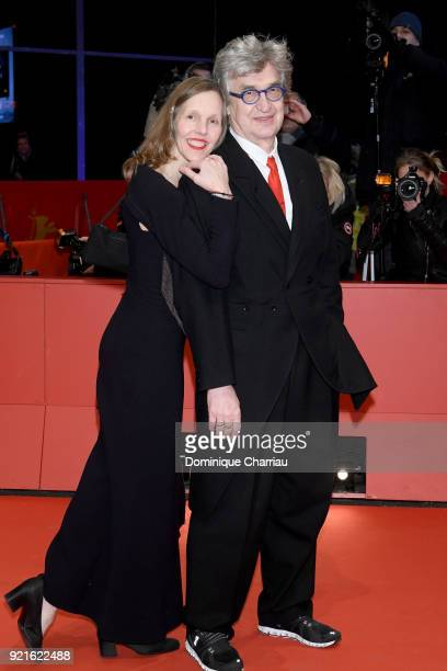 Wim Wenders and his wife Donata Wenders attend the Hommage Willem Dafoe Honorary Golden Bear award ceremony and 'The Hunter' screening during the...