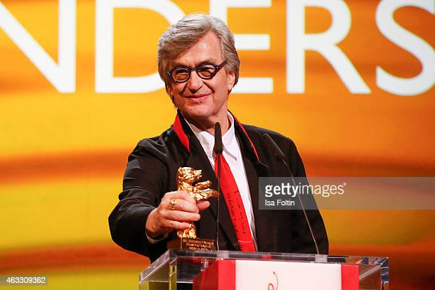 Wim Wenders attends the Honorary Golden Bear award for Wim Wenders during the 65th Berlinale International Film Festival at Berlinale Palace on...