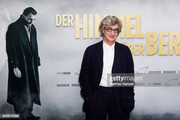 Wim Wenders attends the premiere of 'Der Himmel ueber Berlin' at Zoo Palast on April 12 2018 in Berlin Germany