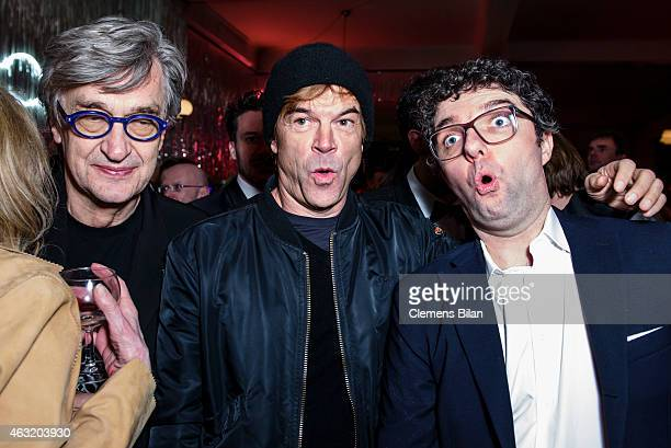 Wim Wenders Campino and Gian Piero Ringel attend the Wim Wenders Party during the 65th Berlinale International Film Festival at Claerchens Ballhaus...