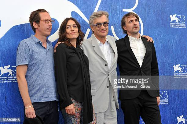 Wim Wenders Reda Kateb Sophie Semin Jens Harzer attends a photocall for 'Les Beaux Jours D'Aranjuez' during the 73rd Venice Film Festival at on...