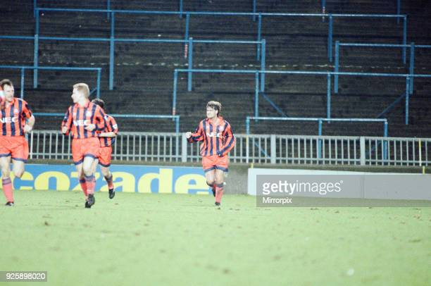 Wimbledon 13 Everton League match at Selhurst Park Tuesday 26th January 1993 Official attendance the lowest for a premiership match Ian Snodin after...