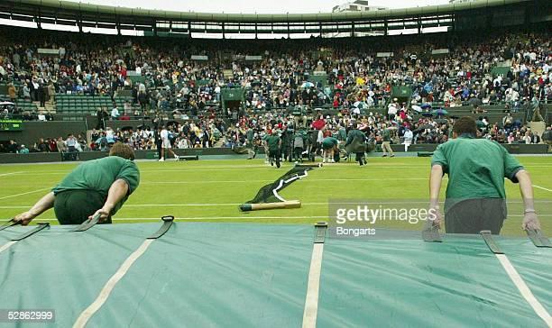Wimbledon 2003 London Maenner/Einzel Regenpause