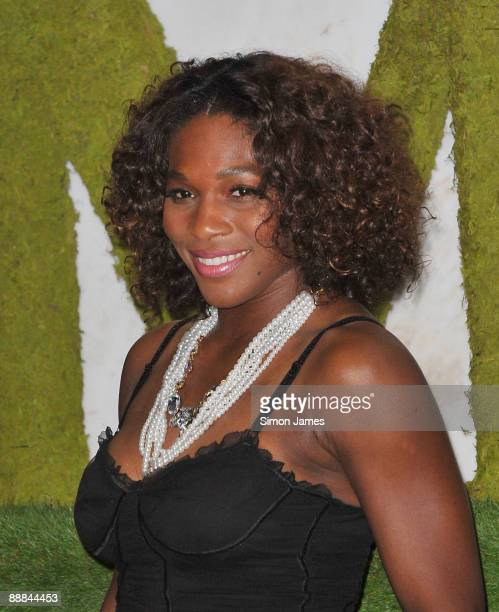 Wimbledon 2009 ladies singles champion Serena Williams attends the Wimbledon Winners Party at Hotel Intercontinental on July 5 2009 in London England