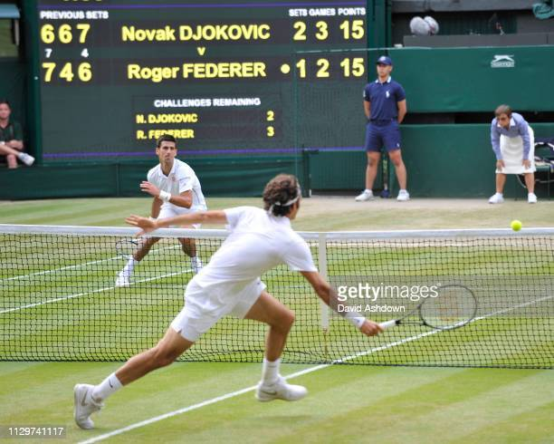 Wimbledon 2014. 6/7/14. Mens final Novak Djokovic V Rodger Federer.