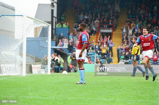Wimbledon 23 Aston Villa league match at Plough Lane Saturday 3rd October 1992 Dalian Atkinson celebrates goal Dean Saunders