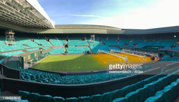 wimbledon centre court - wimbledon stock pictures, royalty-free photos & images
