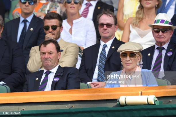 Wimbledon Chairman Philip Brook and Princess Michael of Kent attend day eleven of the Wimbledon Tennis Championships at All England Lawn Tennis and...