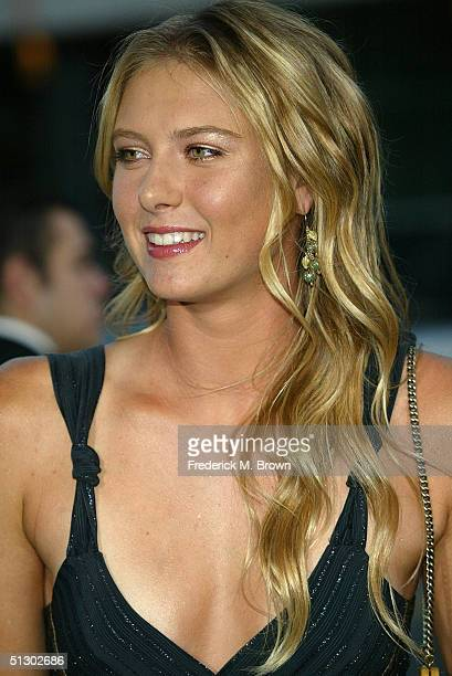 Wimbledon champion Maria Sharapova attends the world premiere of the Universal Feature Wimbledon at the Academy of Motion Pictures Arts and Sciences...