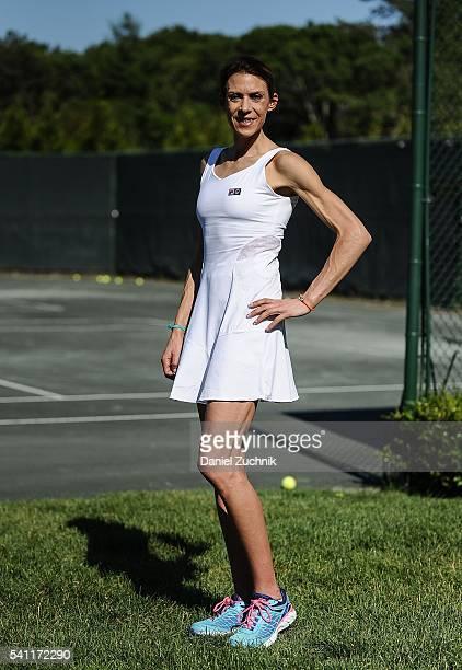 Wimbledon champion Marion Bartoli attends The Daily Summer's celebration of Marion Bartoli's new LOVE FILA collection at Hampton Racquet on June 18...