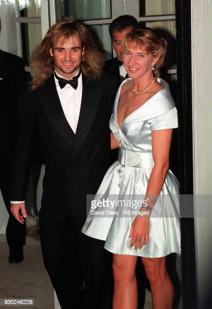 Wimbledon Champions Steffi Graf And Andre Agassi Outside The Savoy Hotel In London For Post