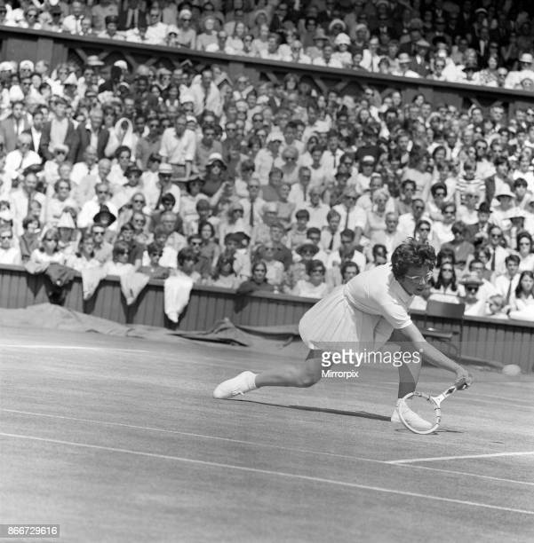 Wimbledon Championships Women's Singles Final on the Centre Court Pictured Billie Jean King in play against Miss Maria Bueno 2nd July 1966