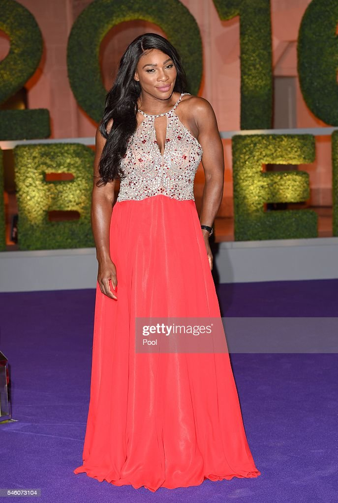 Wimbledon ladies singles Tennis Champion Serena Williams of the United States attends the Wimbledon Champions Dinner 2016 at the Guild Hall on July 10, 2016 in London, England.