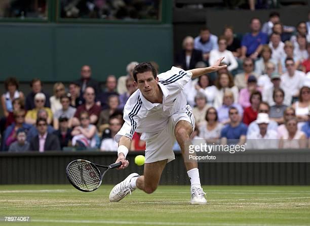 Wimbledon Lawn Tennis Championships London England 4th July 2002 Mens Singles Tim Henman Great Britain