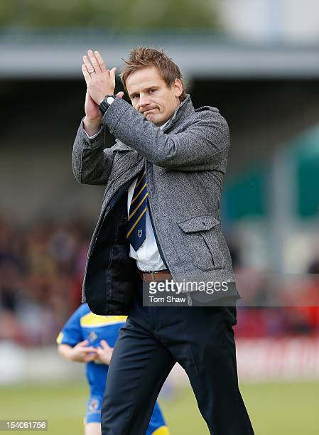 Wimbledon manager Neal Ardley looks on during the Npower League Two match between AFC Wimbledon and Cheltenham Town at The Cherry Red Records Stadium...