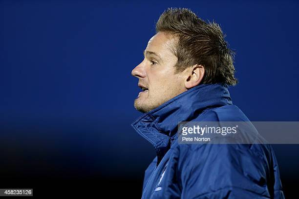 Wimbledon manager Neal Ardley looks on during the Sky Bet League Two match between Northampton Town and AFC Wimbledon at Sixfields on November 1 2014...