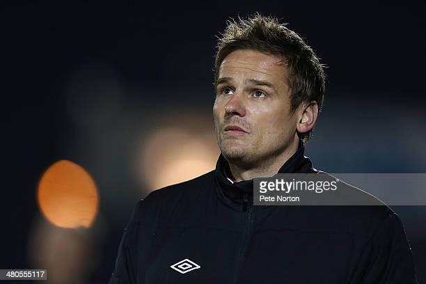 Wimbledon manager Neal Ardley looks on during the Sky Bet League Two match between Northampton Town and AFC Wimbledon at Sixfields Stadium on March...