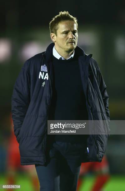 C Wimbledon manager Neal Ardley walks to the dugout before the Sky Bet League One match between AFC Wimbledon and Milton Keynes Dons at The Cherry...
