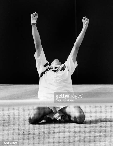 Wimbledon Mens Final Michael Stich after beating Boris Becker in the Final 1991