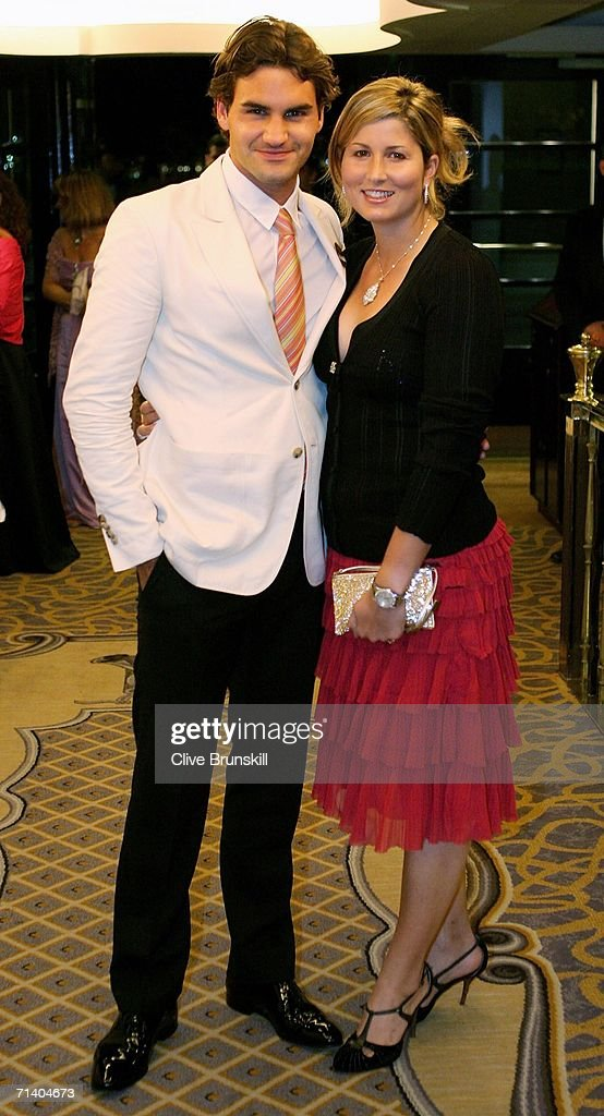 Wimbledon Mens Singles Champion Roger Federer of Switzerland and his girlfriend Mirka Vavrinec attend the Wimbledon Winners' Dinner at the Savoy Hotel on July 9, 2006 in London, England.