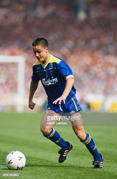 Wimbledon player Dennis Wise in action during the 1988 FA Cup Final between Wimbledon and Liverpool at Wembley Stadium on May 14 1988 in London...