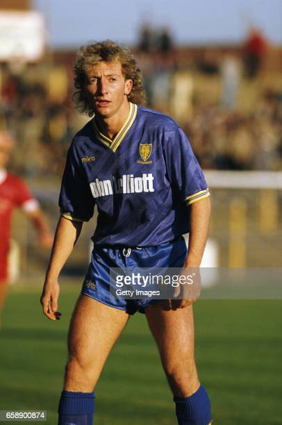 Wimbledon player Ian Holloway pictured during a League Division Two match against Carlisle United at Plough Lane in November1985 in London England