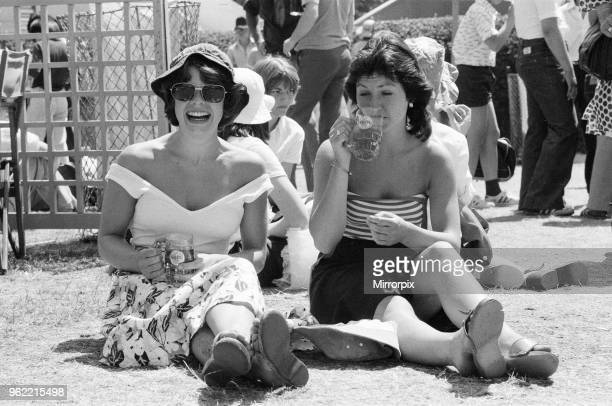 Wimbledon Tennis Championships Thursday 24th June 1976 two women enjoy a beer as they cool down during heatwave