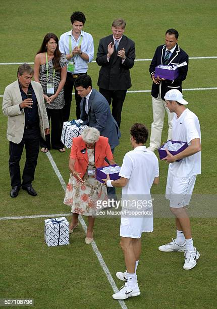 Wimbledon tennis Championships Wimbeldon London UK In the longest match ever played lasting 11 hours and 5 minutes over three days John Isner USA...