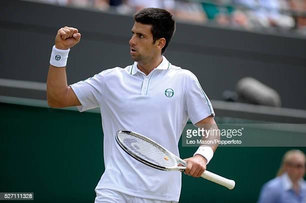 Wimbledon tennis Championships Wimbeldon London UK Novak Djokovic SRB beating Lu YenHsun TPE in straight sets