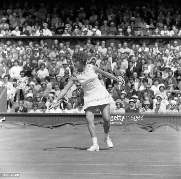 Wimbledon Tennis Ladies day Margaret Smith playing against Billie Jean Moffitt 26th June 1962