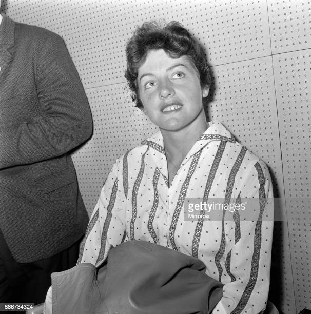 Wimbledon Tennis Ladies day Pictured Margaret Smith during a press interview 26th June 1962