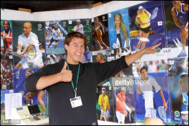 Wimbledon uk july 8 2001 Anna Kournikova is the number one selling poster at the All England Clubthe post goes for 4 pounds or $640