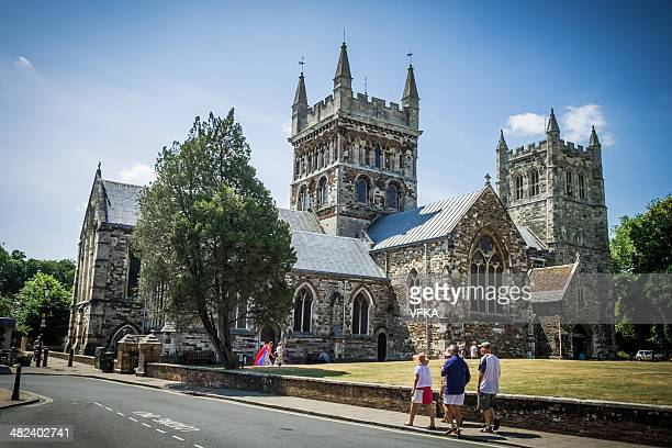 wimborne minster - minster stock photos and pictures