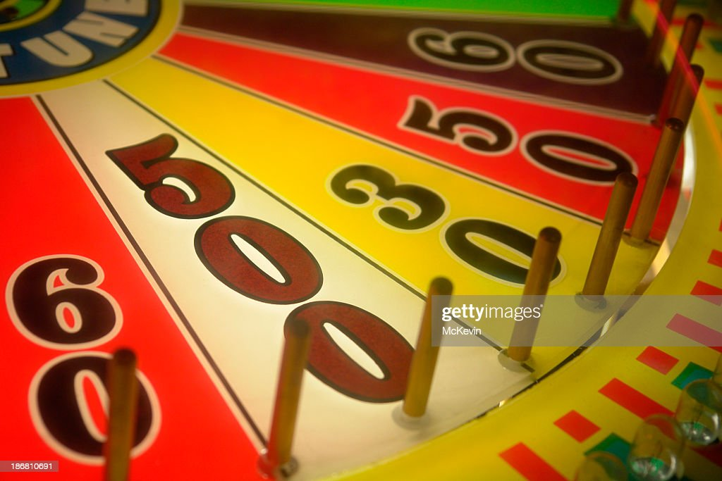 Win 500 points on a wheel of fortune : Stock Photo