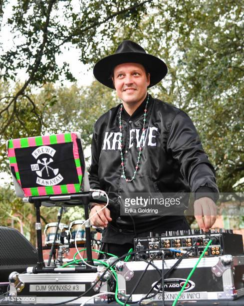 Win Butler aka DJ Windows 98 participates in the second annual Krewe du Kanaval parade on February 22, 209 in New Orleans, Louisiana.