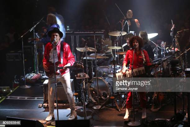 Win Butler and Regine Chassagne of Arcade Fire perform an intimate show at York Hall on July 5 2017 in London England