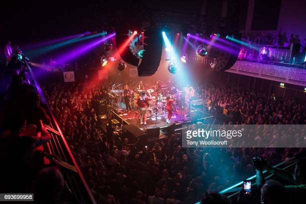 Win Butler and Regine Chassagne of Arcade Fire perform at Scunthorpe Baths on June 8 2017 in Scunthorpe England