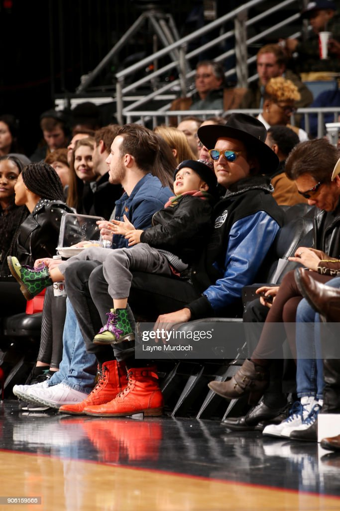 Win Butler enjoys the game between the Portland Trail Blazers and New Orleans Pelicans on January 12, 2018 at the Smoothie King Center in New Orleans, Louisiana.