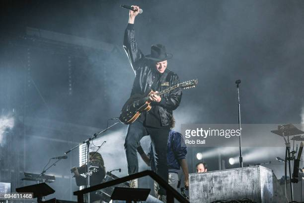 Win Butler from Arcade Fire performs on day 3 of The Isle of Wight festival at Seaclose Park on June 10 2017 in Newport Isle of Wight