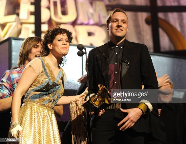 Win Butler of Arcade Fire accepts award onstage during The 53rd Annual GRAMMY Awards held at Staples Center on February 13, 2011 in Los Angeles,...