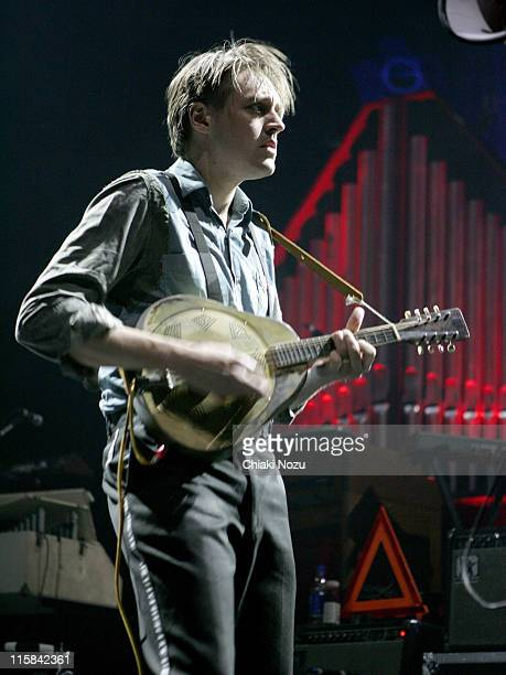 Win Butler of Arcade Fire during Arcade Fire in Concert at the Carling Academy March 15 2007 at Carling Academy in London Great Britain