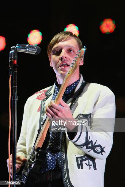 Win Butler of Arcade Fire performs on Day Three of the Austin City Limits Music Festival at Zilker Park on September 18, 2011 in Austin, Texas.