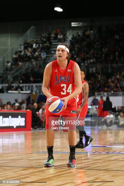 Win Butler shoots the ball during the NBA AllStar Celebrity Game presented by Ruffles as a part of 2018 NBA AllStar Weekend at the Los Angeles...