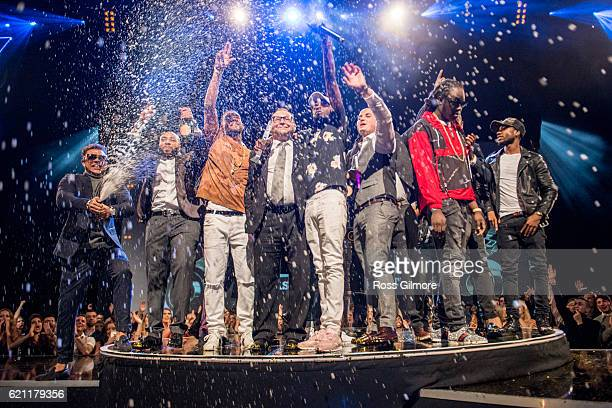 WSTRN win the best Newcomer award at the MOBO Awards show at The SSE Hydro on November 4 2016 in Glasgow Scotland